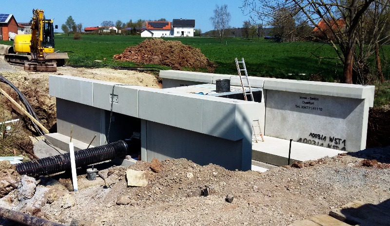 Brückenbauwerk, Rahmenbauwerk, Betonfertigteil