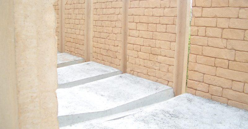 U-Profil, Strukturmauer, Betonfertigteil, Kanalmauer