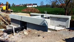 Stahlbetonbauwerk, Brücke, Durchlass
