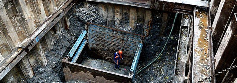 Baugrube, Absicherung, Entlastungsanlage
