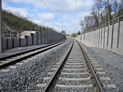 Hangschutzwand Deutsche Bahn Netz AG